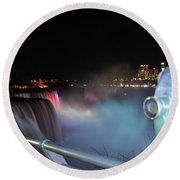 04 Niagara Falls Usa Series Round Beach Towel