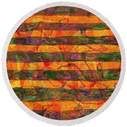 0427 Abstract Thought Round Beach Towel