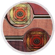 0523 Abstract Thought Round Beach Towel