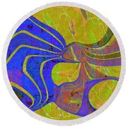 0565 Abstract Thought Round Beach Towel