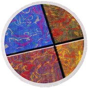 0580 Abstract Thought Round Beach Towel