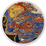 0615 Abstract Thought Round Beach Towel