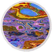 0620 Abstract Thought Round Beach Towel