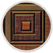 0622 Abstract Thought Round Beach Towel