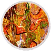 0625 Abstract Thought Round Beach Towel