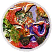 0627 Abstract Thought Round Beach Towel