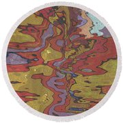 0637 Abstract Thought Round Beach Towel