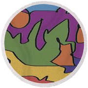 0638 Abstract Thought Round Beach Towel