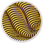 0647 Abstract Thought Round Beach Towel