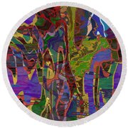 0661 Abstract Thought Round Beach Towel