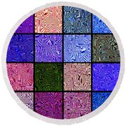 0663 Abstract Thought Round Beach Towel