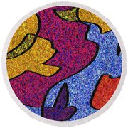 0665 Abstract Thought Round Beach Towel