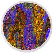 0666 Abstract Thought Round Beach Towel