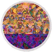 0672 Abstract Thought Round Beach Towel