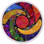 0677 Abstract Thought Round Beach Towel