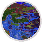 0681 Abstract Thought Round Beach Towel