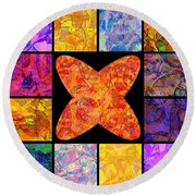 0690 Abstract Thought Round Beach Towel