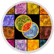 0691 Abstract Thought Round Beach Towel