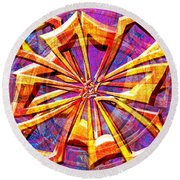 0692 Abstract Thought Round Beach Towel