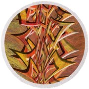 0695 Abstract Thought Round Beach Towel