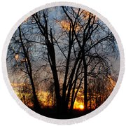 07 Sunset Round Beach Towel