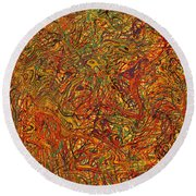 0700 Abstract Thought Round Beach Towel