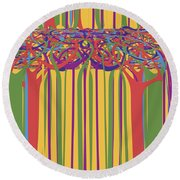 0706 Abstract Thought Round Beach Towel
