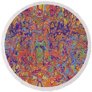 0707 Abstract Thought Round Beach Towel