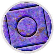 0711 Abstract Thought Round Beach Towel