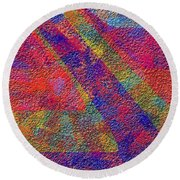 0726 Abstract Thought Round Beach Towel