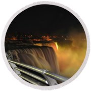 08 Niagara Falls Usa Series Round Beach Towel