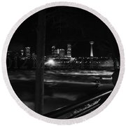 09 Niagara Falls Usa Rapids Series Round Beach Towel
