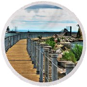 001 Peace Bridge Series Round Beach Towel