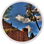 002 The 74th Regimental Armory In Buffalo New York Round Beach Towel
