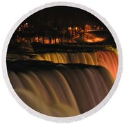 01 Niagara Falls Usa Series Round Beach Towel