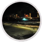 010 Niagara Falls Usa Rapids Series Round Beach Towel