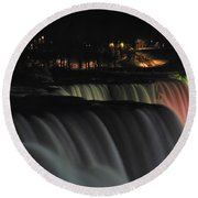 010 Niagara Falls Usa Series Round Beach Towel