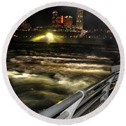 012 Niagara Falls Usa Rapids Series Round Beach Towel