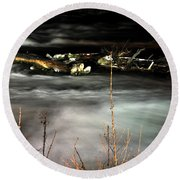 03 Niagara Falls Usa Rapids Series Round Beach Towel