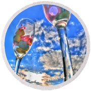 04 Love Is In The Air Round Beach Towel