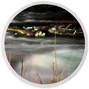 05 Niagara Falls Usa Rapids Series Round Beach Towel