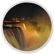 07 Niagara Falls Usa Series Round Beach Towel