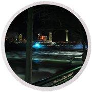 09 Niagara Falls Usa Rapids Series Round Beach Towel