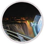 09 Niagara Falls Usa Series Round Beach Towel