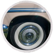 1929 Desoto Firefly Convertable Round Beach Towel