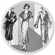 1930s Dresses Round Beach Towel