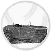 1932 Ford Hi Boy Hot Rod Round Beach Towel