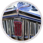 1933 Fiat Balilla Hood Ornament Round Beach Towel