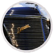1937 Ford Model 78 Cabriolet Convertible By Darrin Round Beach Towel by Gordon Dean II