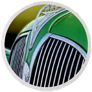 1937 Plymouth Hood Ornament Round Beach Towel